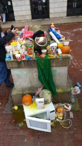 the offerings at Testudo on the day of my last exam!